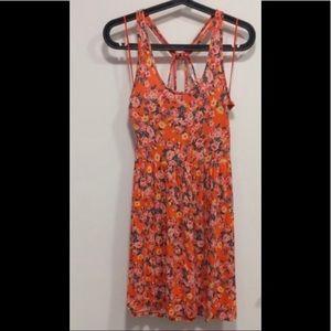 Kimchi Blue Orange floral summer dress